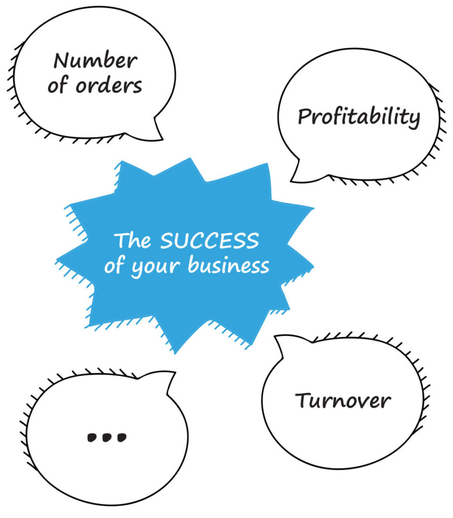 The Business success illustration